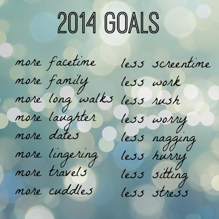 2014 goal - be MORE
