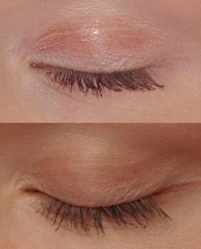 Mascara Lashes Before and After