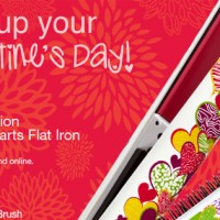 Valentines Day Gift Guide: Scribble Hearts Flat Iron