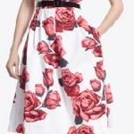 White House Black Market Rose Dress