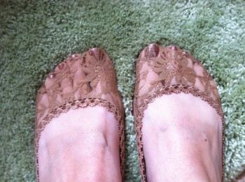 lace foot covers