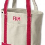 Lands' End Medium Open Top Canvas Tote Bag
