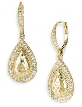 Nadri-Hammered-Pavé-Teardrop-Earrings