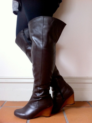 Over The Knee Wide Calf Boots - Cr Boot