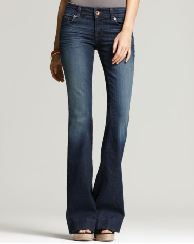 70s inspired denim flares