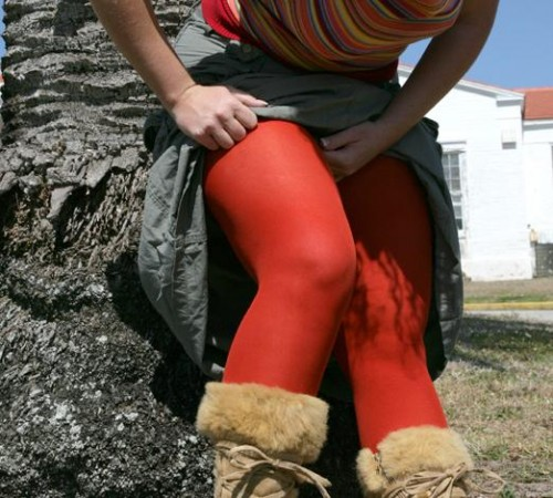Bright colored tights from We Love Colors