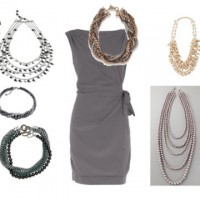 Dress up a Simple Dress with Statement Necklaces