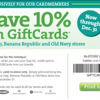 Get Gap Gift Cards 10% Off
