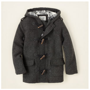wool toggle coat for boys from Children's Place