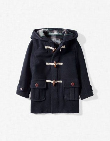 woollen duffle coat for boys from zara