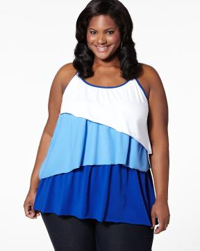 plus size color blocked top from Addition-Elle