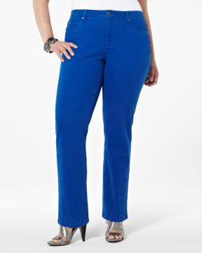 plus size electric blue denim from Addition-Elle