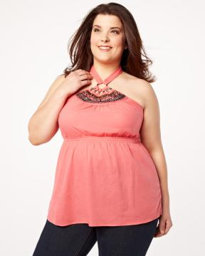 plus size embellished top from Addition-Elle