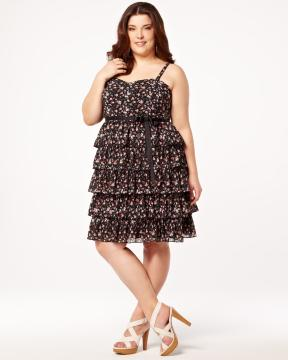 plus size floral shutter dress from Addition-Elle