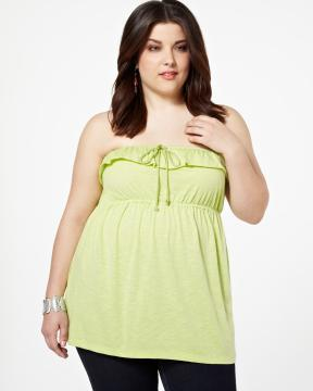 plus size neon lime top from Addition-Elle