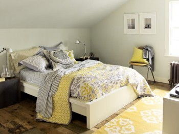 grey and yellow master bedroom decorating with gray and yellow 18838