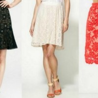 trend watch lace skirts