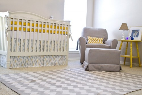 Yellow and Gray Nursery Rug 500 x 333