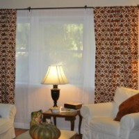 Orange and Blue Living Room Makeover
