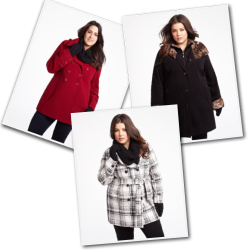Plus size wool coats from Addition-Elle.