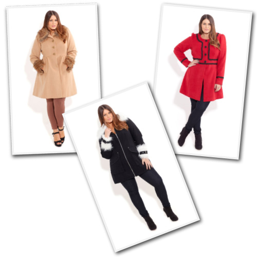 Plus size coats from City Chic Online.