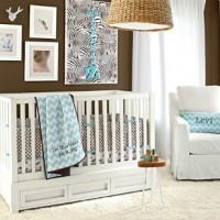 Chic Nursery for Less with WallPops