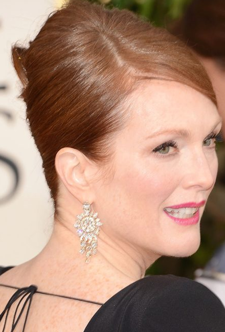 Julianne Moore Golden Globes 2013 Statement Earrings