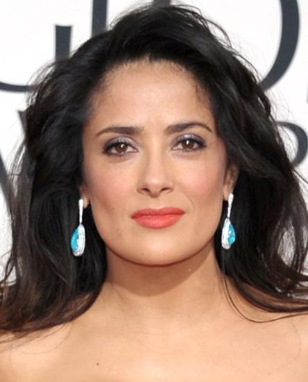 Salma Hayek Golden Globes 2013 Statement Earrings