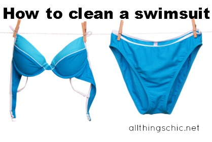 how to clean a swimsuit