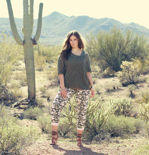 Plus size camouflage pants from Addition-Elle.
