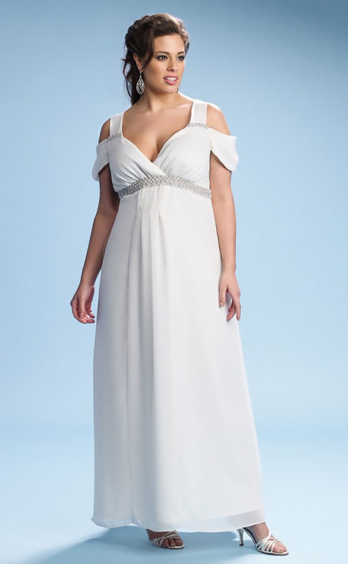 Plus size kiyonna wedding dresses for Off white plus size wedding dresses