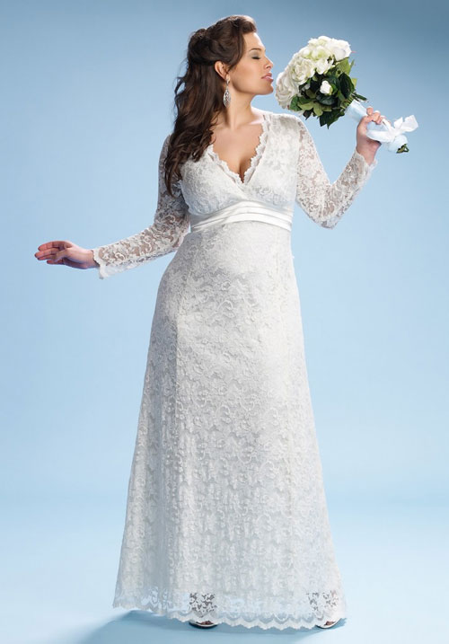 Plus size kiyonna wedding dresses for Wedding vow renewal dresses plus size