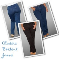 Plus size bootcut denim jeans from Sealed with a Kiss.