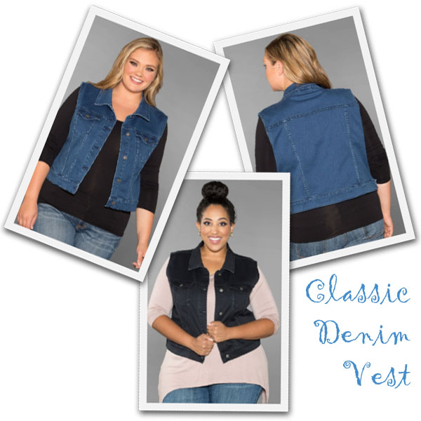 Cropped denim vests from SwakDesigns.