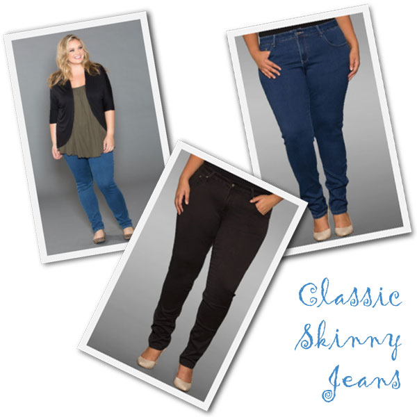 Plus size skinny denim jeans from Sealed with a Kiss.