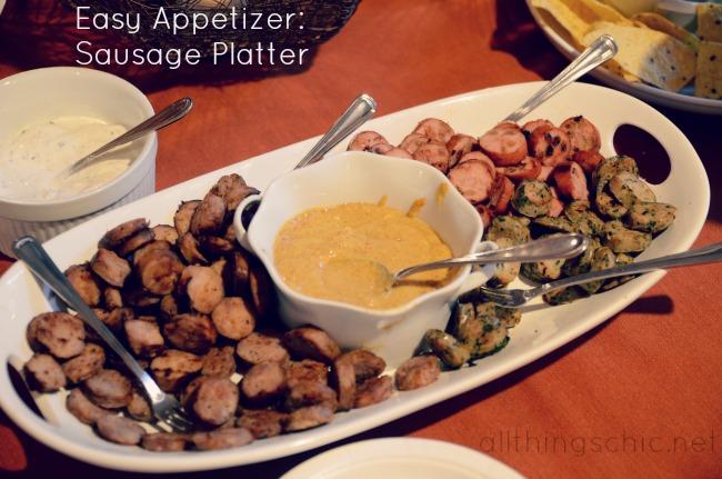 Easy #Appetizer Sausage Platter