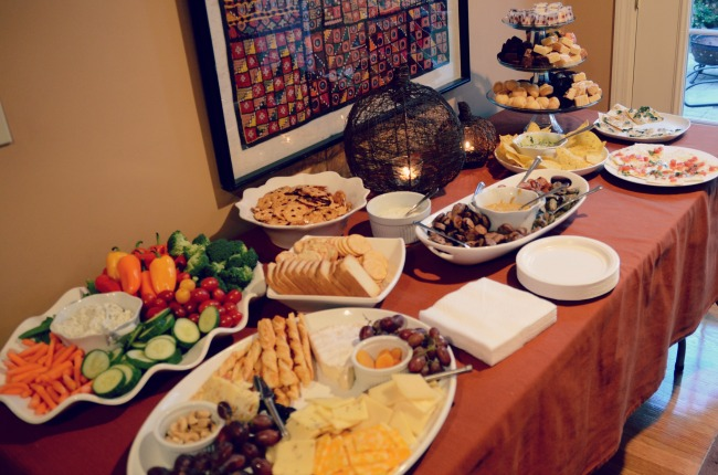 fall open house buffet | fall #entertaining