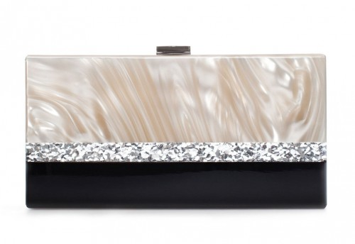 Zara Mother of Pearl Evening Minaudiere