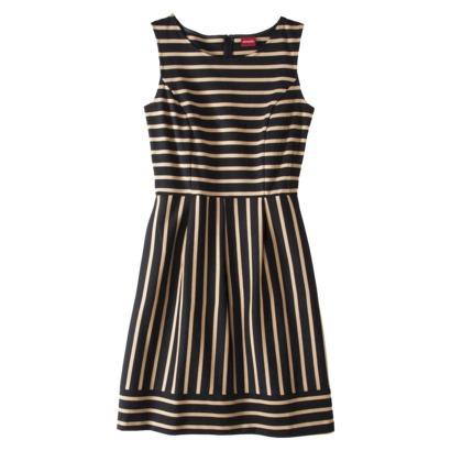 merona women's ponte striped dress