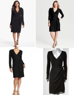 Dvf Black Wrap Dress The Black Wrap Dress