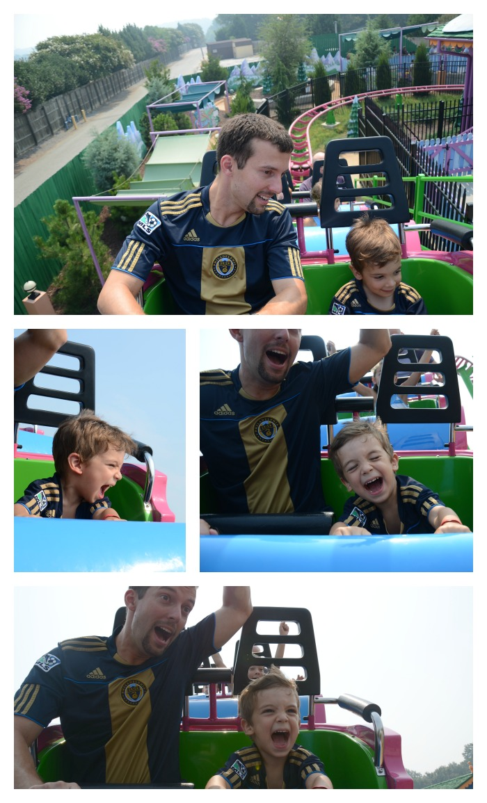 Colins first roller coaster ride