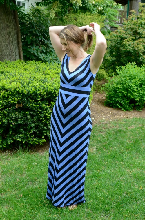 stripe maxi mom fashion