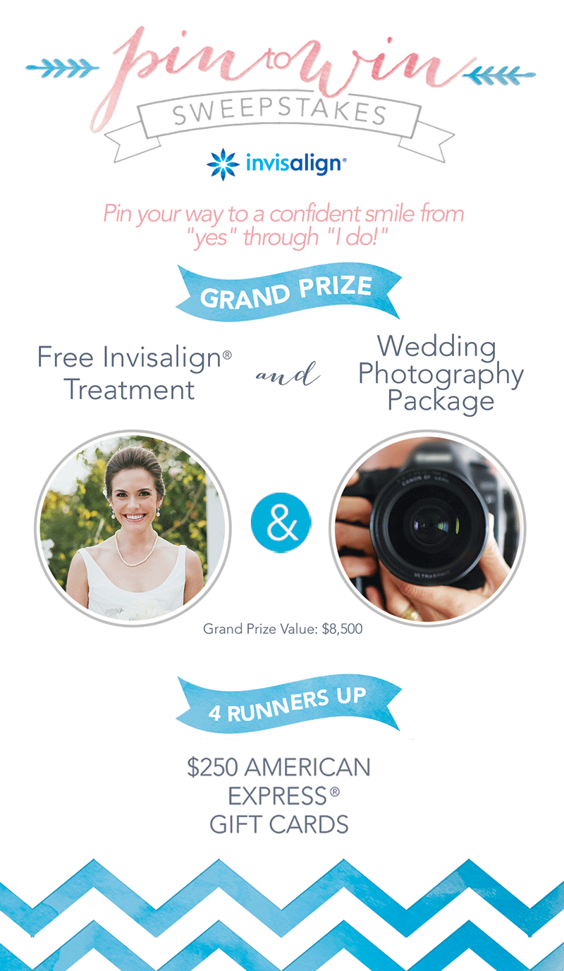 Invisalign Wedding Pin to Win Banner