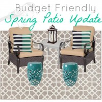 Grey and Teal Patio Makeover