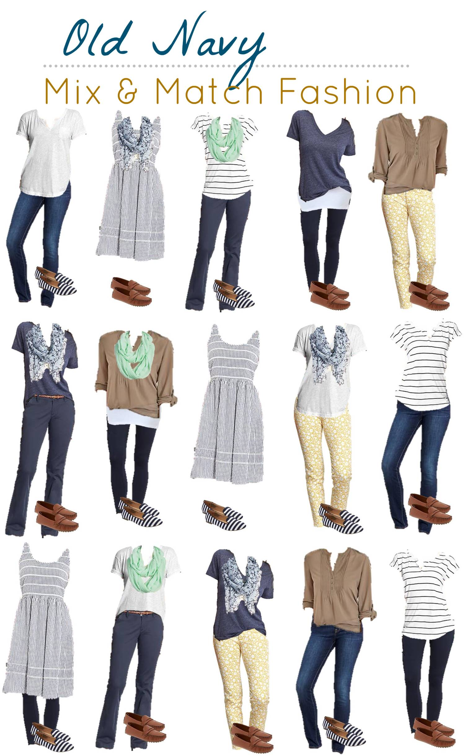 family photo color ideas for summer - Mix & Match Your Look with Old Navy
