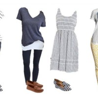 mix and match styles from Old Navy