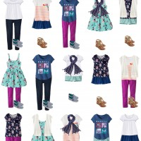 Mix and Match Girls Spring Wardrobe from Target