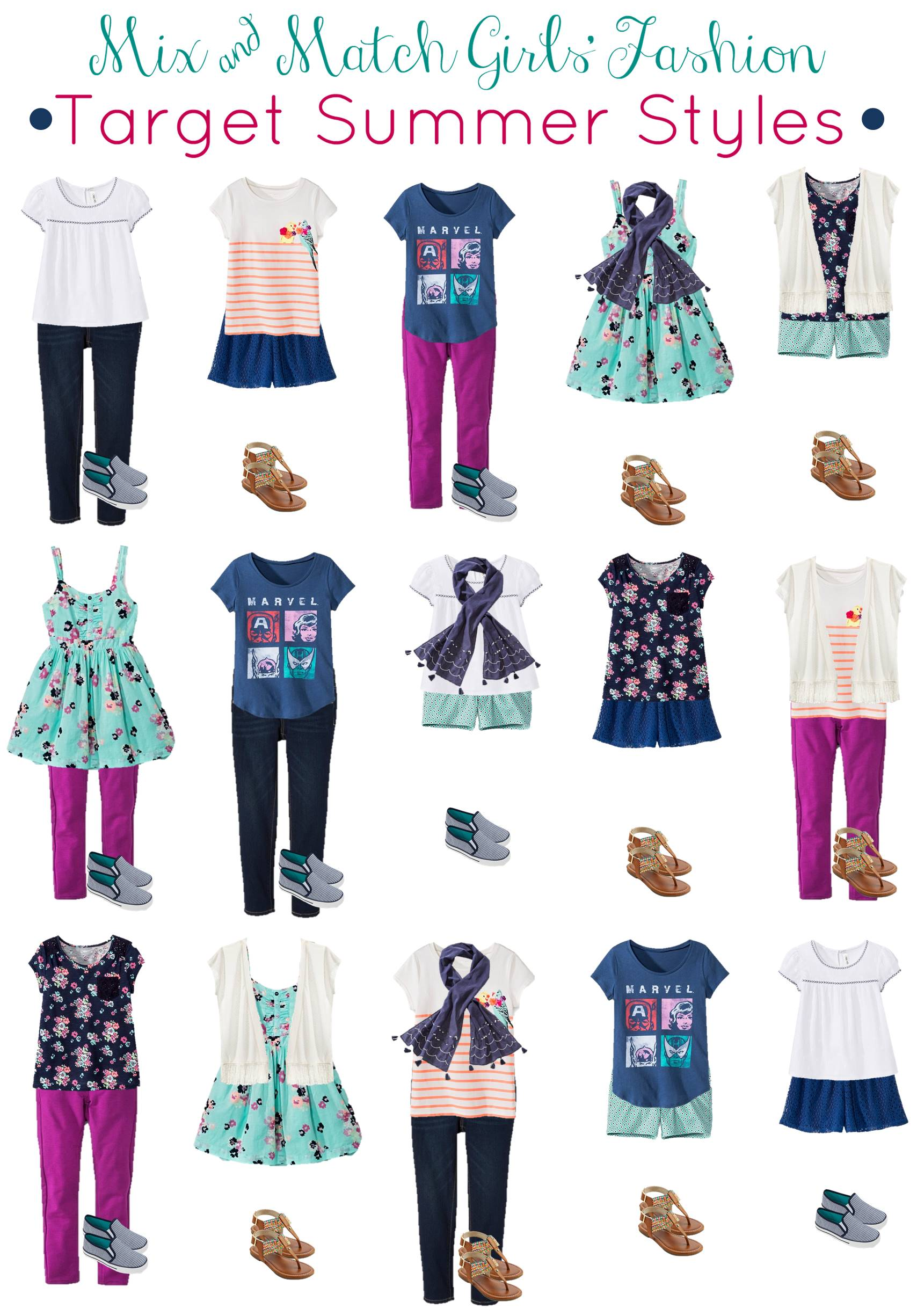 Target girls outfits