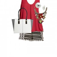 Target Summer Style: Red Tank and Chic Shorts