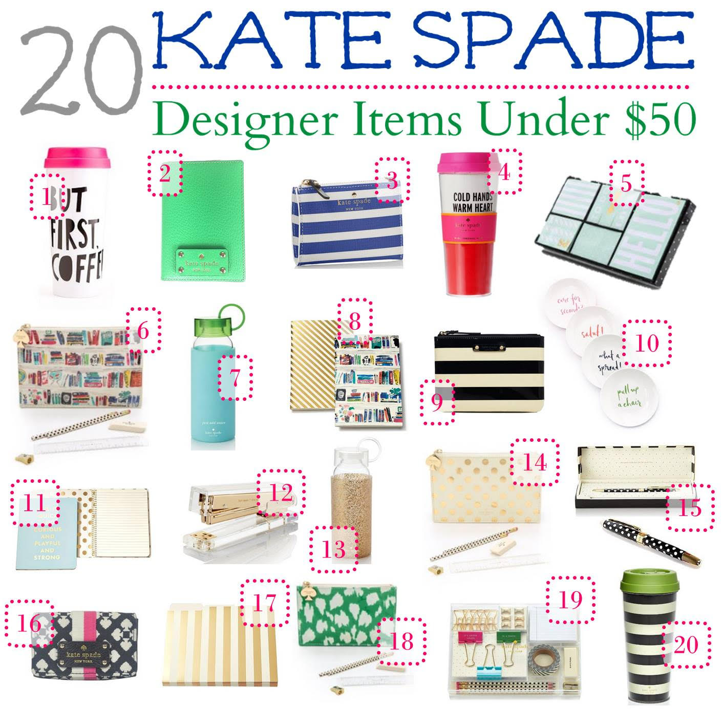 20 Kate Spade Gifts Under 50